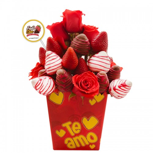 Arreglos Frutales Quito - San Valentin Te amo