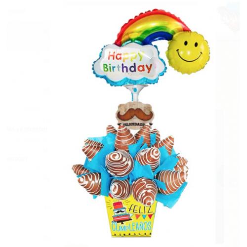 Arreglos Frutales Quito - Happy birthday