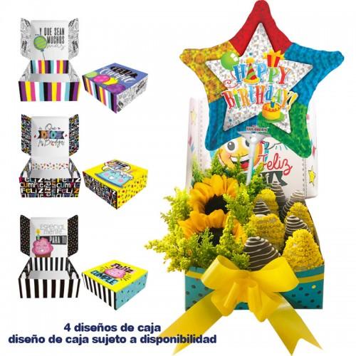 Arreglos Frutales Quito - Cajita feliz cumpleaños