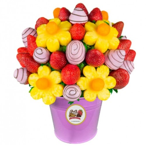 Arreglos Frutales Quito - Alegría Rosa